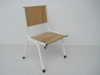 Metal frame pine seat kinder chair stackable