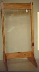 See through easel