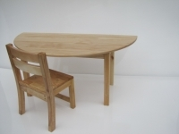 Semi Circle Table - Pine